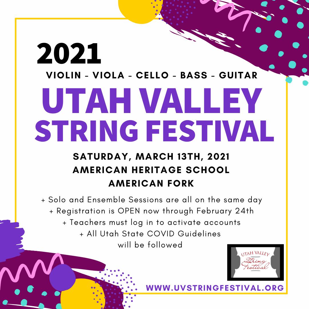 PAID AD: Utah Valley String Festival