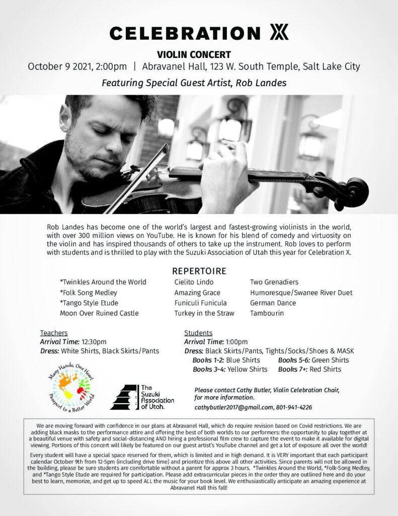 Celebration X Violin Concert