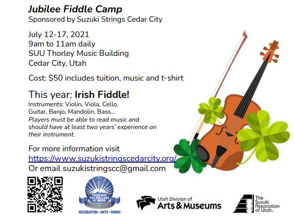 Cedar City Jubilee Fiddle Camp 2021
